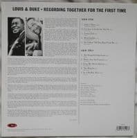 Louis Armstrong Duke Ellington TOGETHER FOR THE FIRST TIME 180g Vinyl Sealed